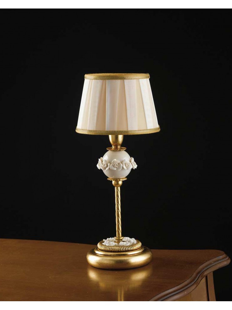 Classic table lamp wrought iron gold leaf 1 light LP 150