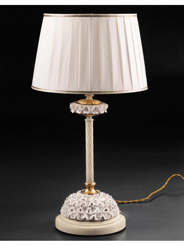 Lume large classic ivory-gold porcelain 1 light Lg 154