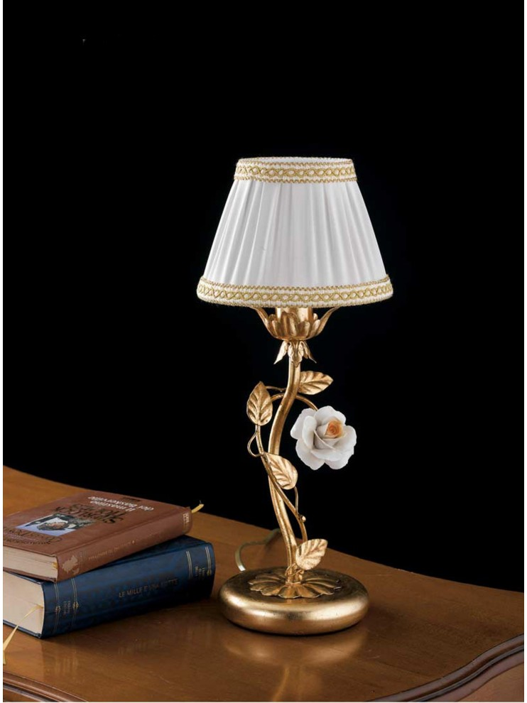Classic table lamp wrought iron gold leaf 1 light LP 122