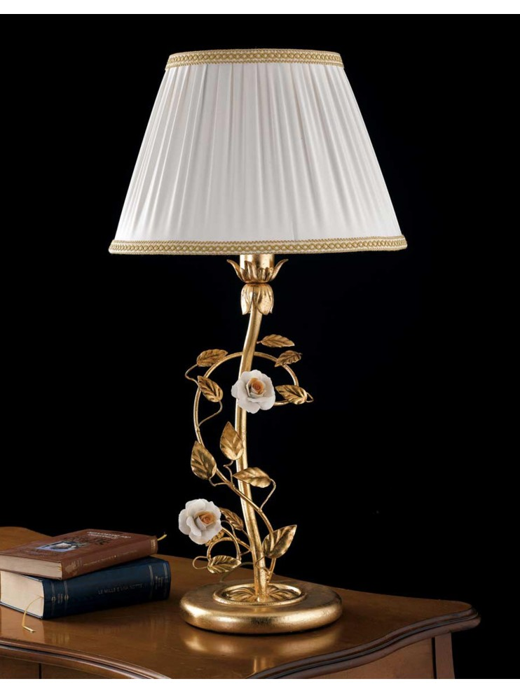 Classic lamp in wrought iron gold leaf 1 light LG 122