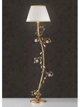 Classic floor wrought iron, gold leaf and porcelain 1 light Lt 122