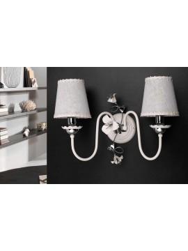 Contemporary white-chrome wall light 2 lights ap 157 / 2p