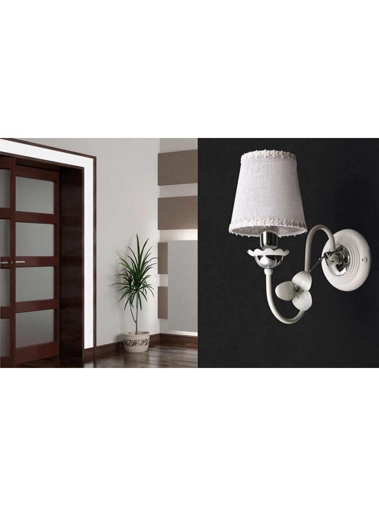 Contemporary white-chrome wall light 1 light ap 157 / 1p