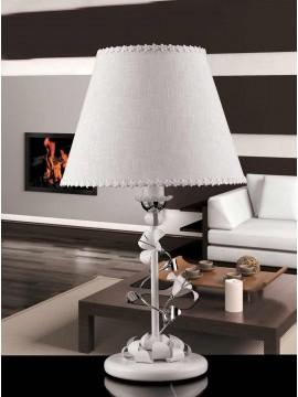 Lumetto 1 luce contemporaneo bianco-cromato pre LP157/p