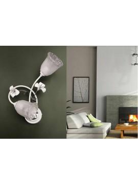 Contemporary white and chrome wall light 2 lights ap 157 / 2v