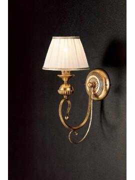 Applique in ferro battuto classico foglia oro 1 luce Ap 105/1