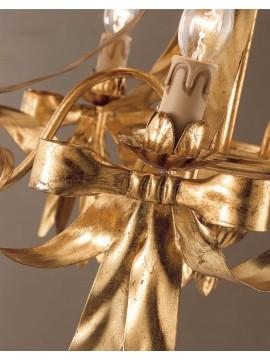 Lampadario classico in ferro battuto foglia oro 3 luci So 108/3
