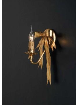 Applique classico ferro battuto foglia oro 1 luce Ap 108/1