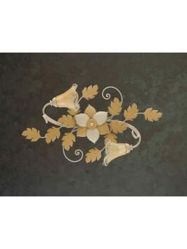 Plafoniera classica in ferro battuto 2 luci avorio-oro PL 130/2OV