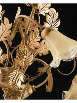 Lampadario classico in ferro battuto oro 5 luci LS 130/5