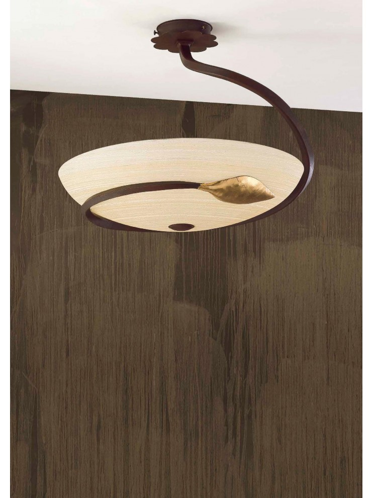 Classic ceiling lamp in rust-gold wrought iron PL / TS 110/50
