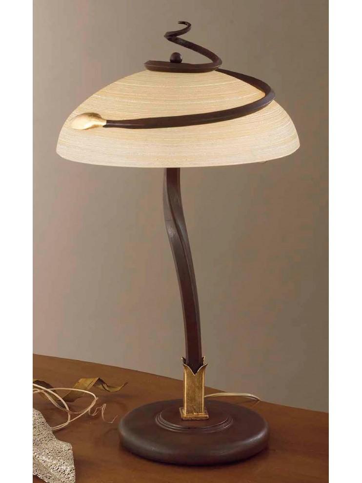 Lume large classic wrought iron rust-gold 2 lights LG 110