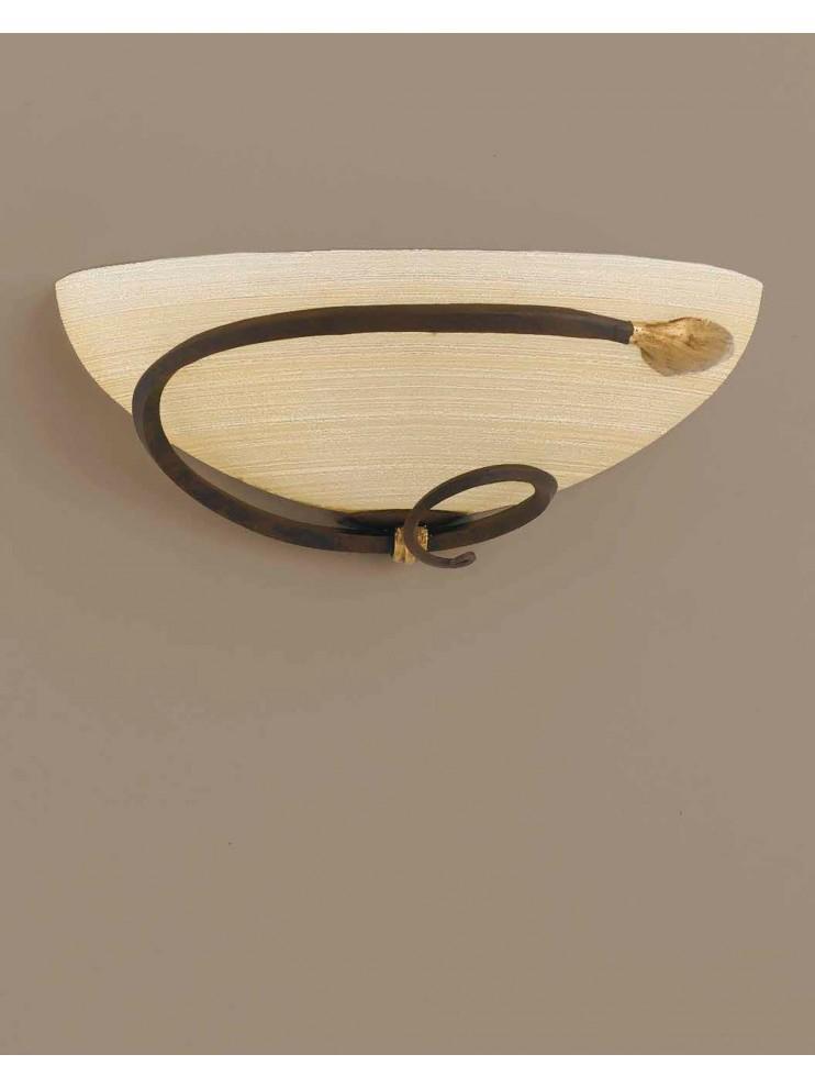 Applique classico in ferro battuto ruggine-oro 1 luce Ap 110/30v