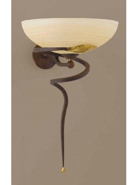 Classic applique in rust-gold wrought iron 1 light Ap 110 / 30ls