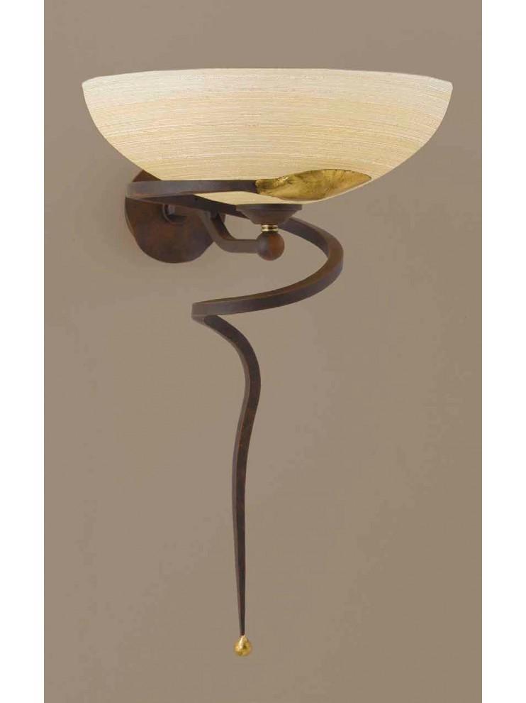 Applique classico in ferro battuto ruggine-oro 1 luce Ap 110/30ls