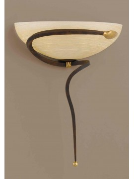 Classic applique in rust-gold wrought iron 1 light Ap 110 / 30vlam