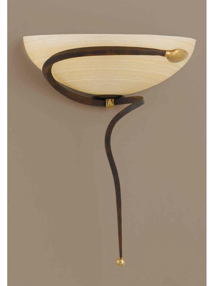 Classic applique in rust-gold wrought iron 1 light Ap 110 / 30vlam