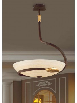 Classic chandelier in rust-gold wrought iron 3 lights So 110/50