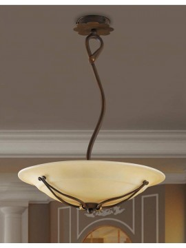 Classic chandelier in rust-gold wrought iron 3 lights So 109/50