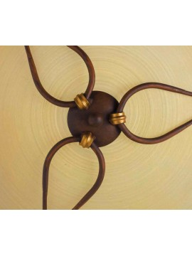 Classic ceiling light in rust-gold wrought iron 2 lights PL 109/50