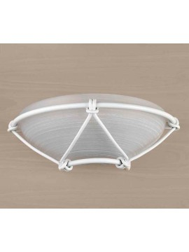 Classic applique in white wrought iron 1 light Ap 162/30