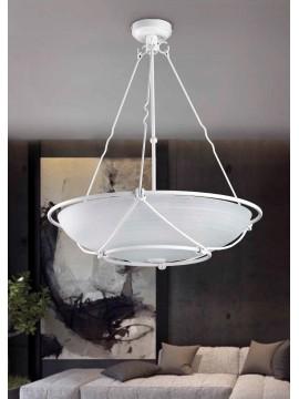 Lampadario classico in ferro battuto bianco 3 luci So 162/50
