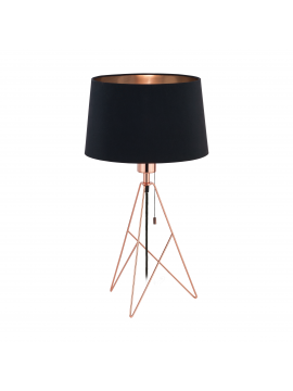 Modern light black and copper 1 light GLO 39178 Camporale