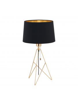 Modern light black and gold 1 light GLO 39179 Camporale