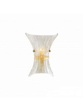 Applique classico in vetro murano 1 luce fiocco small