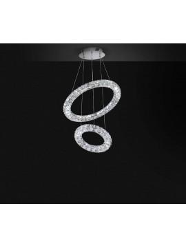 Modern led chandelier 34w affra 2202 Nora 3 design swarovsky