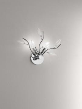 Applique moderno con cristalli 2 luci affra 2090C Crystallivs