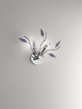 Applique moderno con cristalli fumè 2 luci affra 2090CF Crystallivs