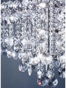 Plafoniera moderna 9 luci affra 3145 Rotondo design swarovsky