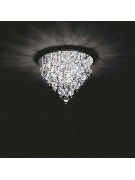 Plafoniera moderna 9 luci affra 3151 Rotondo design swarovsky