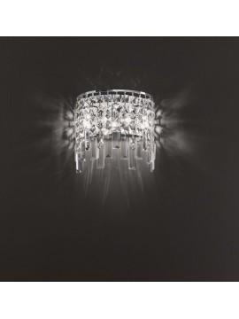 Applique moderno 3 luci affra 2230 Frangia design swarovsky