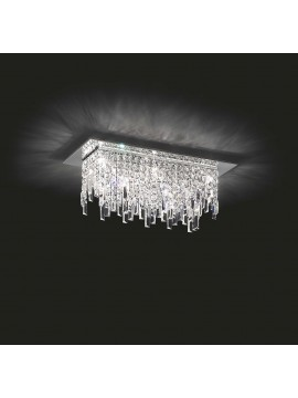 Plafoniera moderna 8 luci affra 2183 Frangia design swarovsky