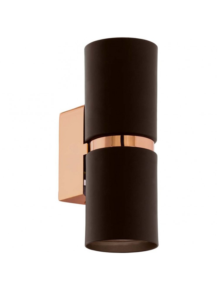 6,6w modern LED wall light, brown GLO 95371 Passa