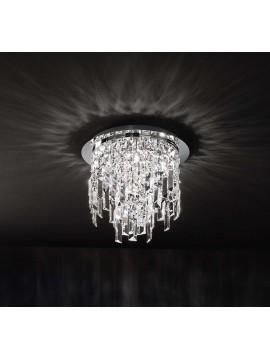 Plafoniera moderna 6 luci affra 2188 Frangia design swarovsky