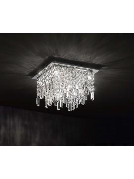 Plafoniera moderna 8 luci affra 2185 Frangia design swarovsky