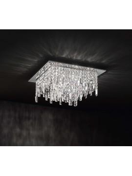 Modern ceiling lamp 12 lights affra 2196 Frangia design swarovsky