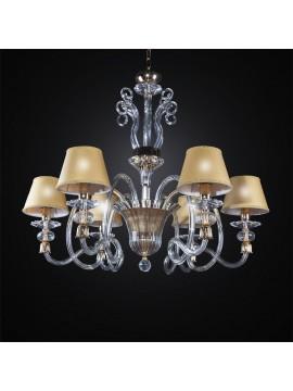 Lampadario cristallo classico oro 6 luci BGA 2710/6 design swarovsky