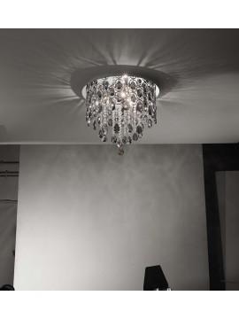 Ceiling lamp modern crystal 6 lights affra 2279S Hemidark