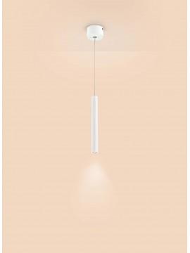 Lampadario a led moderno bianco cilindro design affra 2025 Tubi diodi