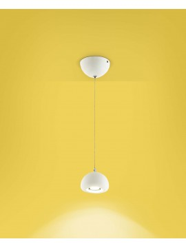 Lampadario a led moderno bianco design 1 luce affra 2038 Bell diodi