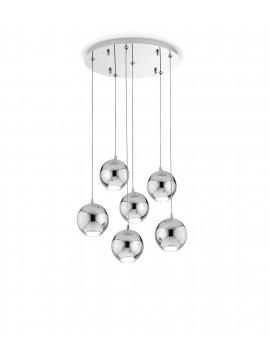 Modern chrome LED chandelier with 6 lights and 2036 lights Bol diodi