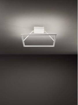Plafoniera a led quadrata moderna design 72w affra 2344 Quattro
