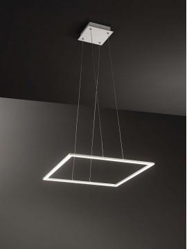 Lampadario a led quadrato moderno design 80w affra 2340 Quattro