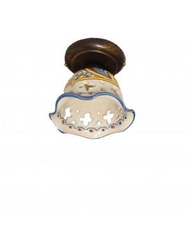 Sicilian ceramic rustic ceiling light 1 light Stella d.15