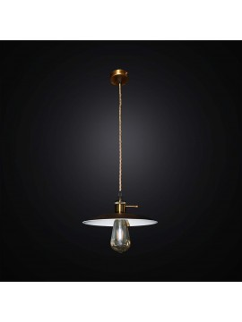 Rustic copper chandelier with braided cable 1 light BGA 2916 / P25R