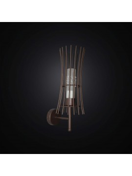 Applique classico in ferro battuto ruggine rustico 1 luce BGA 2909/A1